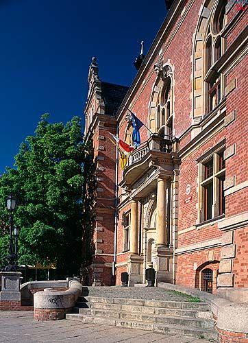 Gdańsk, kamienice przy wałach jagielońskich