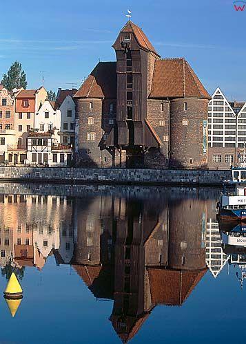 Gdańsk, żuraw, motława