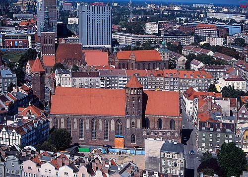 Gdańsk-panorama miasta z Bazyliki NMP