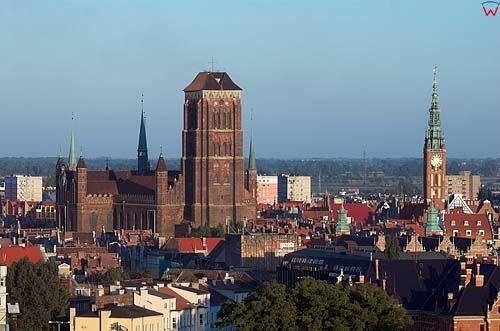 Gdańsk, ratusz i kościół Mariacki
