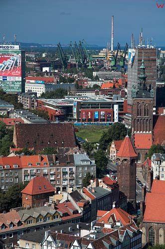 Gdańsk panorama z wieży kościoła mariackiego