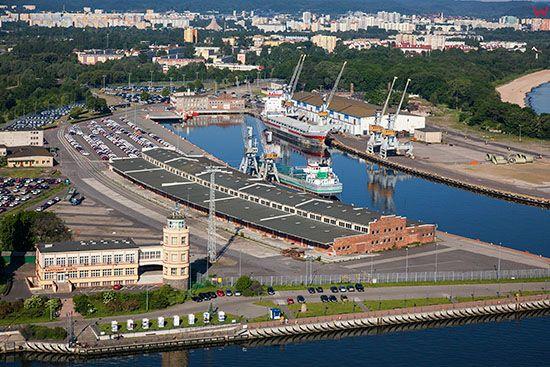 Gdansk, Kapitanat Portu Gdansk i Basen Wladyslawa IV. EU, PL, Pomorskie. Lotnicze.