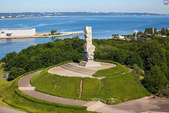 Gdansk - Westerplatte, Pomnik Obroncow Wybrzeza. EU, PL, Pomorskie. Lotnicze.