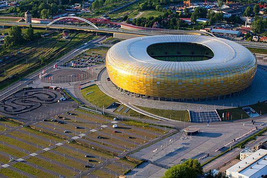 Gdansk, PGE Arena Gdansk. EU, PL, Pomorskie. Lotnicze.