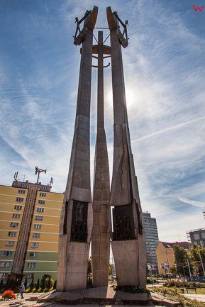 Gdansk, Europejskie Centrum Solidarnosci (ECS) - Pomnik Poleglych Stoczniowcow 1970. EU, PL, Pomorskie.