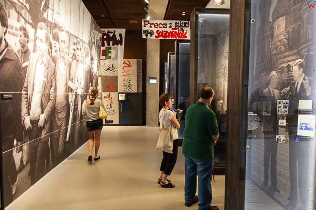 Gdansk, Europejskie Centrum Solidarnosci (ECS) - ekspozycje wewnatrz obiektu. EU, PL, Pomorskie.