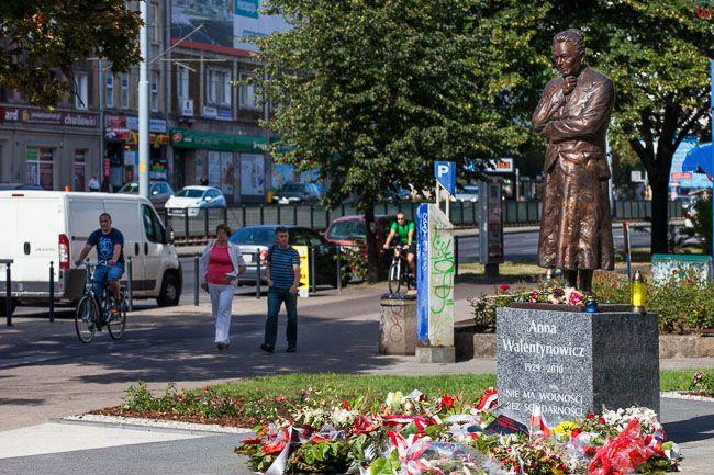 Gdansk, pomnik Anny Welentynowicz przy skwerze Anny Walentynowicz. EU, PL, Pomorskie.