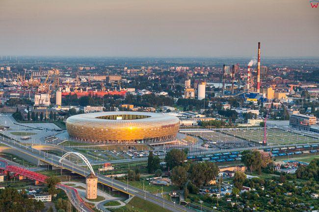 Gdansk Letnica, Stadion Energa Gdansk. EU, PL, Pomorskie. Lotnicze.