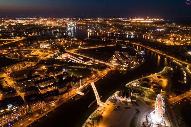 Gdansk, panorama miasta z lotu ptaka. EU. PL,Pomorskie. Lotnicze.