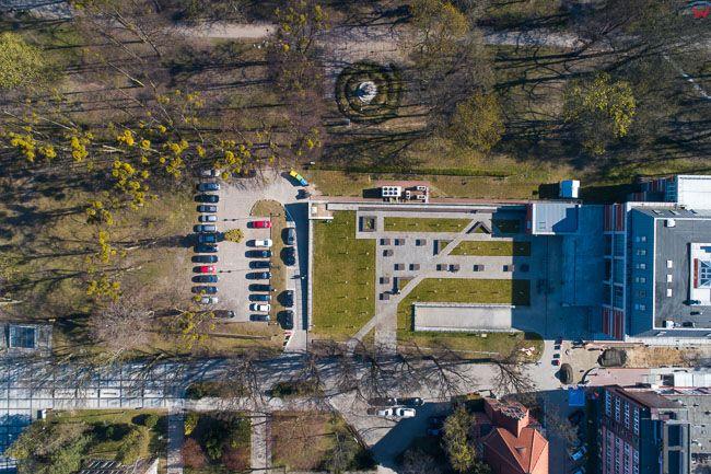 Gdansk, panorama miasta z lotu ptaka-Park Akademicki. EU. PL,Pomorskie. Lotnicze.