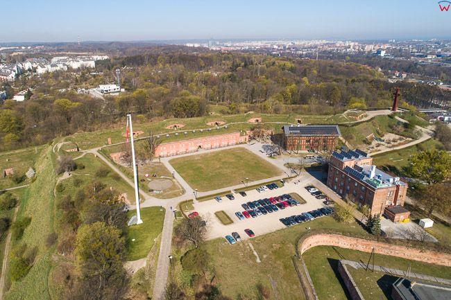 Gdansk, panorama miasta z lotu ptaka-Gora Gradowa. EU. PL,Pomorskie. Lotnicze.