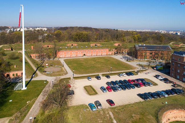 Gdansk, panorama miasta z lotu ptaka-Fort Gory Gradowej. EU. PL,Pomorskie. Lotnicze.