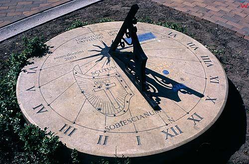 Gdańsk, zegar słoneczny na starym mieście