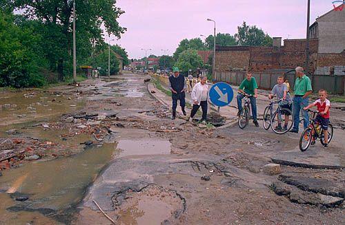 Gdansk - Orunia, powodz 9/10 lipca 2001.