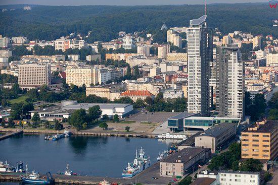 Gdynia Port, Basen I - Prezydenta. EU, Pl, pomorskie. Lotnicze.