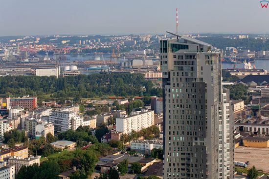 Sea Towers Gdynia. EU, Pl, pomorskie. Lotnicze.