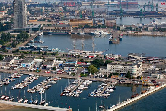 Gdynia Port, Skwer Kosciuszki. EU, Pl, pomorskie. Lotnicze.