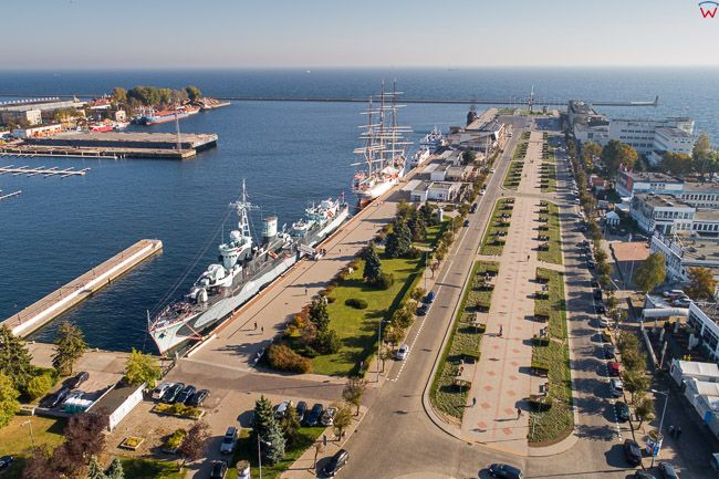Gdynia, Molo Poludniowe EU, PL, Pomorskie. Lotnicze