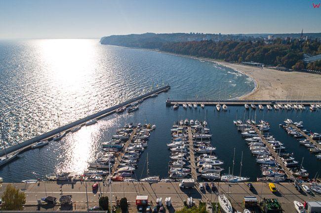 Gdynia, Basen Jachtowy EU, PL, Pomorskie. Lotnicze