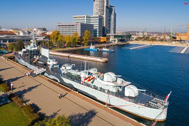 Gdynia, ORP Blyskawica EU, PL, Pomorskie. Lotnicze