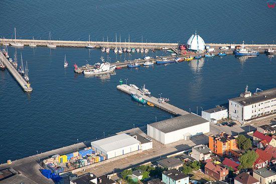 Lotnicze, Pl, Pomorskie. Polwysep Helski. Port w Helu.
