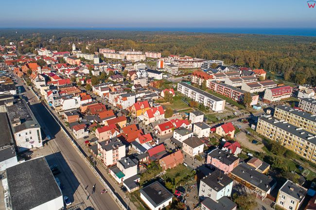 Hel, panorama miasta EU, PL, Pomorskie. Lotnicze