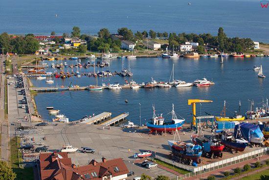 Port w Jastarni. EU, Pl, Pomorskie. LOTNICZE.