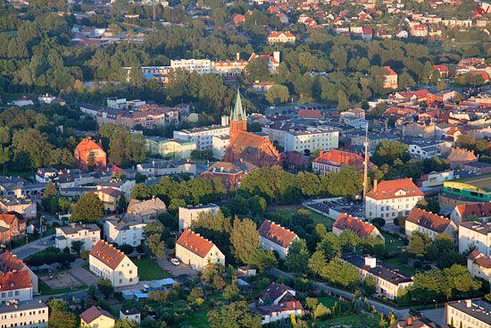 Lotnicze, EU, PL, Pomorskie. Panorama Koscierzyny.