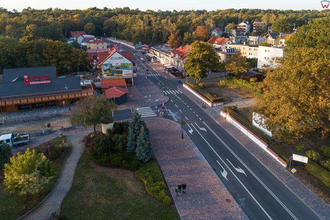 Mierzeja Wislana 06.10.2018 r. Krynica Morska, centrum miasta EU, PL, Pomorskie, Lotnicze