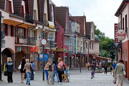 Lebork, ulica Staromiejska. EU, Pl, Pomorskie.
