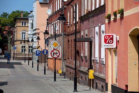 Lebork, ulica Sklodowskiej-Curie. EU, Pl, Pomorskie.