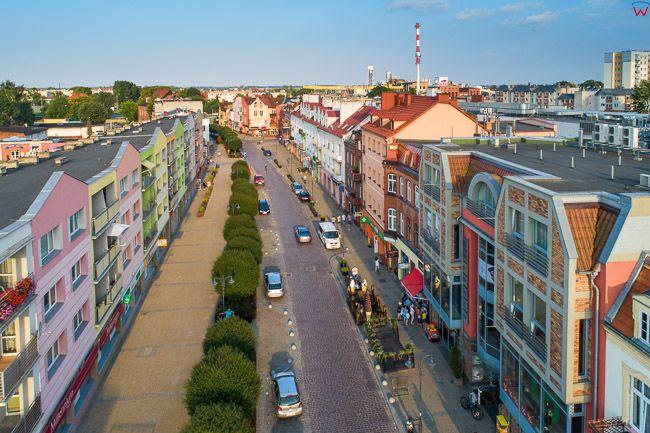 Malbork, deptak/ulica T. Kosciuszki. EU, PL, Pomorskie. Lotnicze.