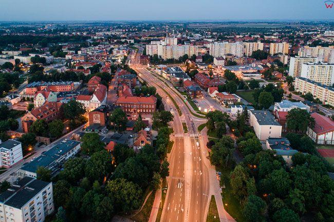 Malbork, Aleja Rodla. EU, PL, Pomorskie. Lotnicze.