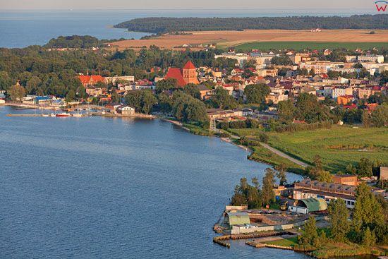 Panorama na Puck. EU, Pl, Pomorskie. LOTNICZE.