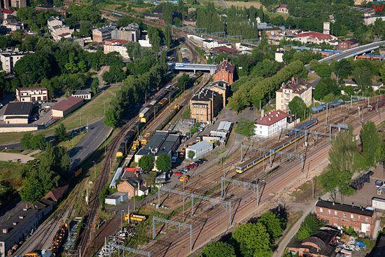 Lotnicze, Pl, pomorskie. Wezel kolejowy w Tczewie.