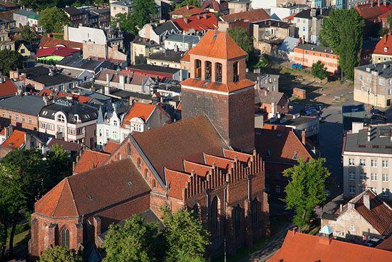 Lotnicze, Pl, pomorskie. Kościół farny pw. Podwyższenia Krzyża Świętego w Tczewie.