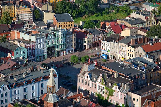 Lotnicze, Pl, pomorskie. Centrum starego miasta w Tczewie.