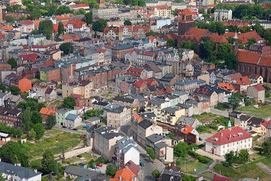 Lotnicze, Pl, pomorskie. Tczew-panorama miasta.