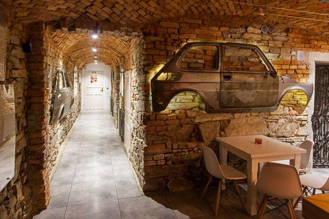 Bielsko - Biala, kawiarnia-muzeum Malego Fiata przy ulicy Cieszynskiej. EU, PL, Slaskie.