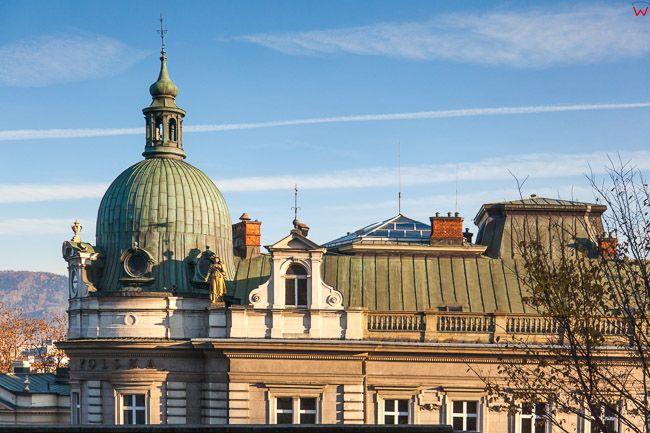 Bielsko - Biala, archtektura budynku starej Poczty przy ulicy Zamkowej. EU, PL, Slaskie.