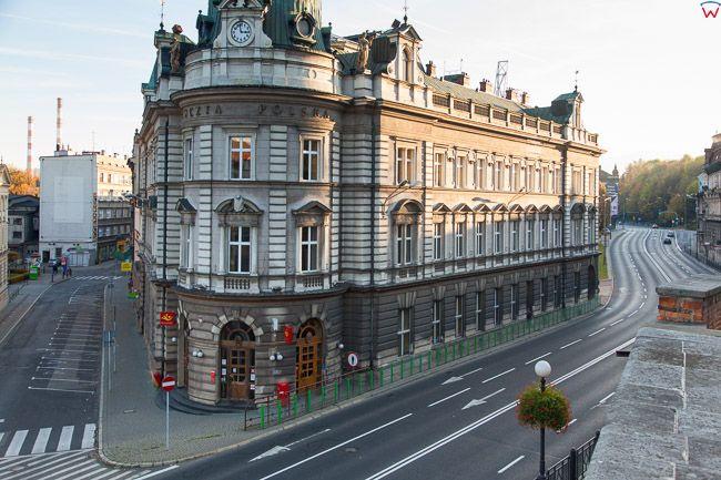 Bielsko - Biala, budynek Poczty przy ulicy Zamkowej. EU, PL, Slaskie.