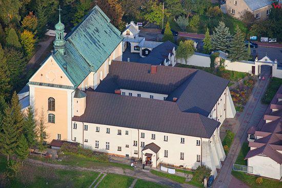 Pilica, klasztor OO. Franciszkanow. EU, Pl, Slaskie. LOTNICZE.