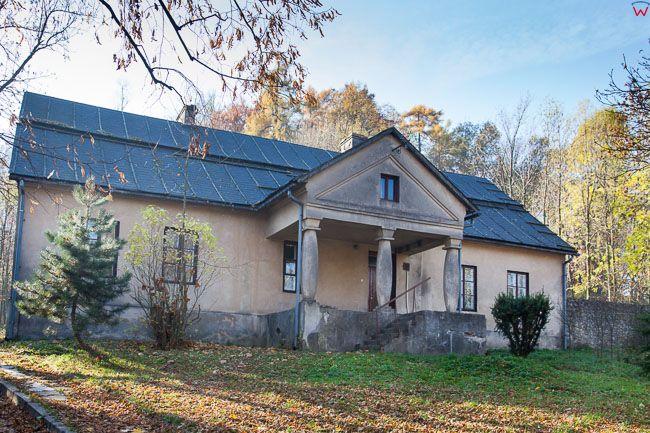 Smolen, zabytkowy dom podcieniowy. EU, PL, Slaskie.
