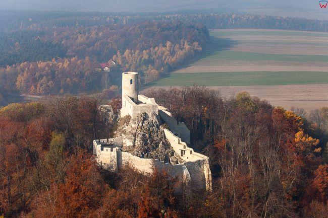 Zamek Smolen. EU, PL, Slaskie. Lotnicze.