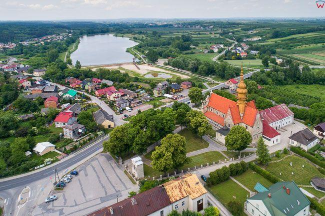 Koprzywnica, lotnicza panorama wsi
