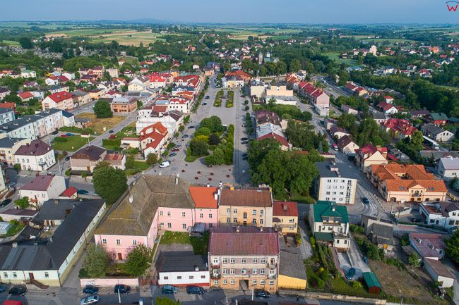 Opatow, panorama starego miasta od strony E