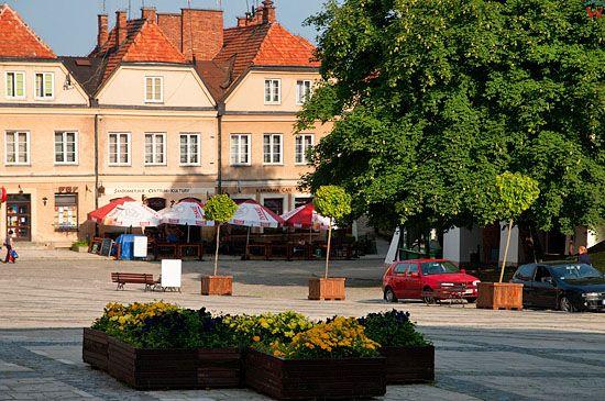 PL, swietokrzyskie, Sandomierz. Kamienice starego miasta.