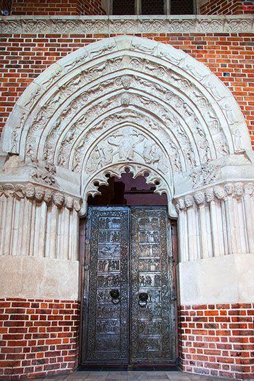 Gniezno, Drzwi Gnieznienskie. EU, Pl, Wielkopolskie.