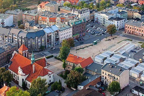 Gniezno, Plac 21 Stycznia. EU, Pl, Wielkopolskie. Lotnicze.