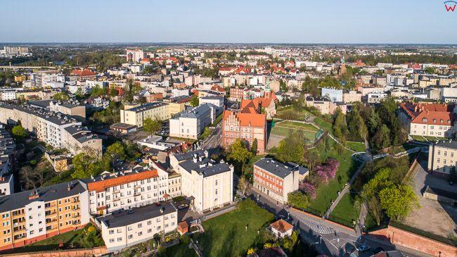 Gniezno, okolica Starego Miasta. EU, Pl, wielkopolskie. Lotnicze